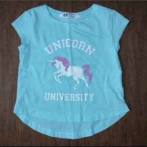 Unicorn 🦄 University H&M Sz 18-24M Tee Shirt EUC